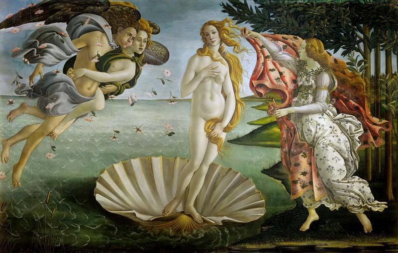 The Birth of Venus. Alessandro Botticelli