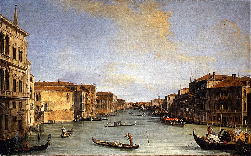 Canaletto - View of the Grand Canal. Uffizi