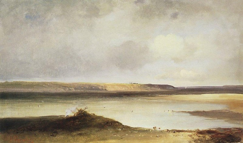 Volga. Dali. The first half of 1870. Alexey Kondratievich Savrasov