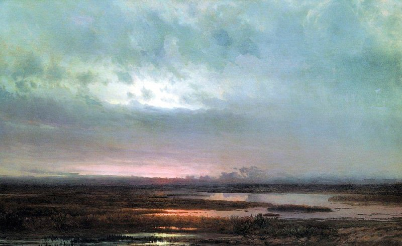 Sunset over the marsh. 1871. Alexey Kondratievich Savrasov