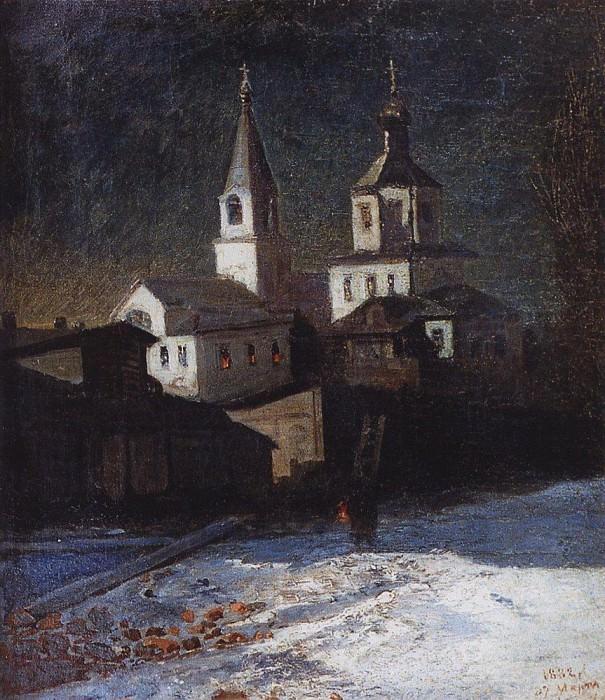 Church of Elijah commonplace in Moscow. 1882. Alexey Kondratievich Savrasov