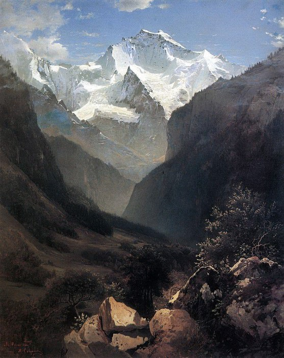 Type in the Swiss Alps (Mount Small Ruhen). 1862. Alexey Kondratievich Savrasov