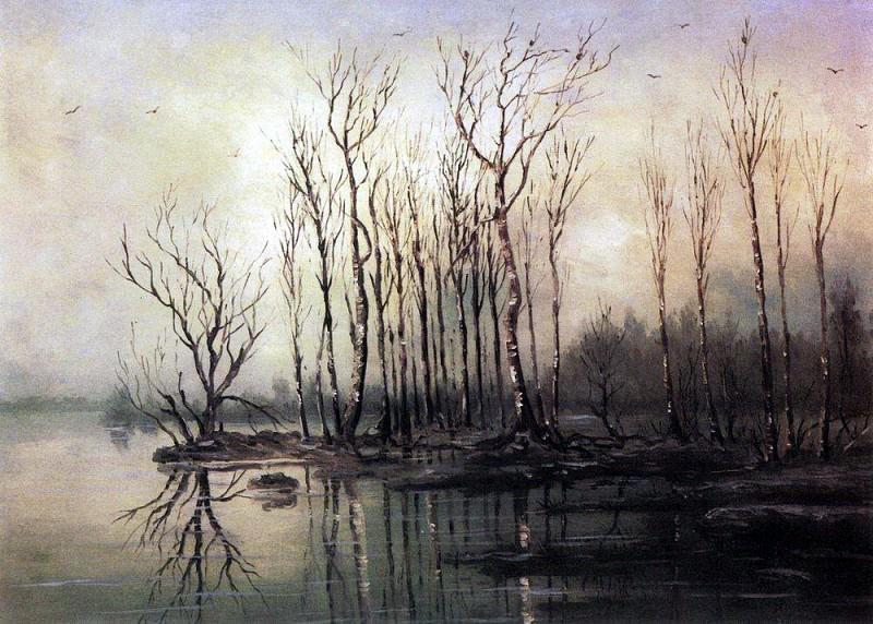 Ранняя весна. Половодье. 1868. Алексей Кондратьевич Саврасов
