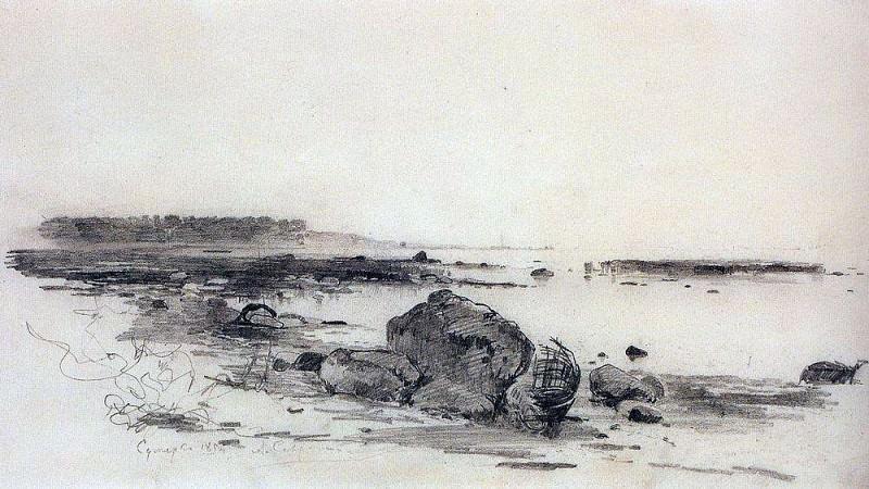 Берег моря. Сумерки. 1854. Алексей Кондратьевич Саврасов