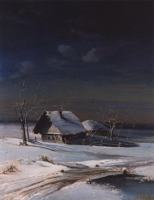 Зимний пейзаж. 1871. Алексей Кондратьевич Саврасов