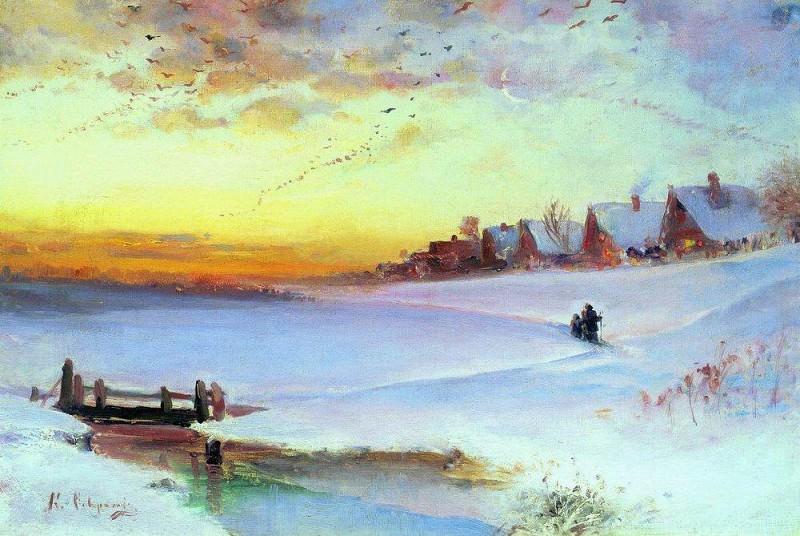Winter Landscape (Thaw). 1890. Alexey Kondratievich Savrasov