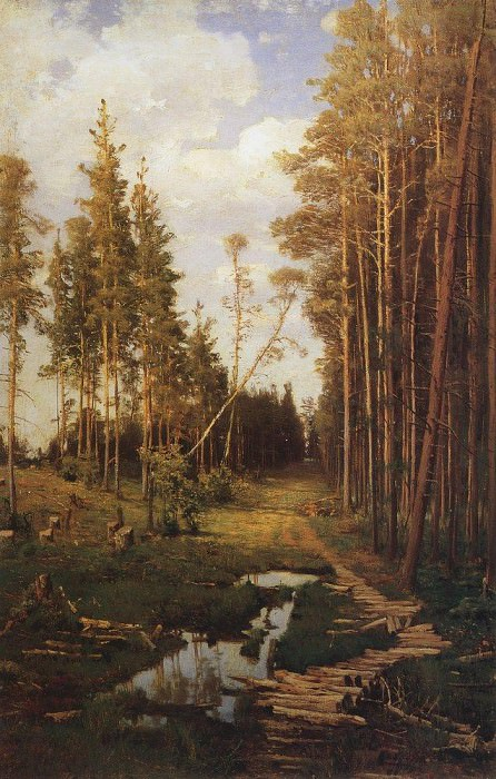 clearing in the pine forest. 1883. Alexey Kondratievich Savrasov
