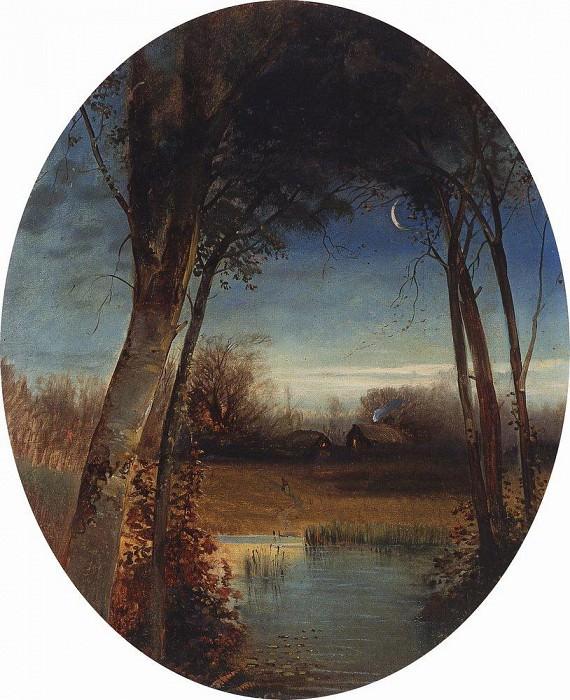 River landscape. 1880-1890-e. Alexey Kondratievich Savrasov