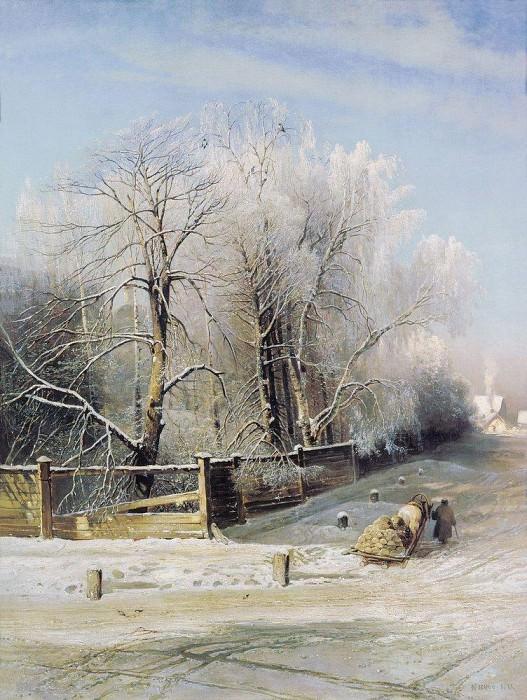 Зимний пейзаж. Москва. 1873. Алексей Кондратьевич Саврасов