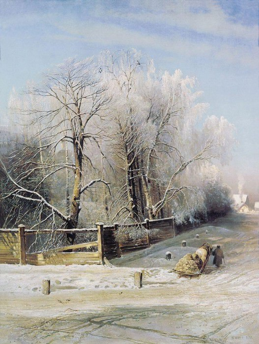 Winter landscape. Moscow. 1873. Alexey Kondratievich Savrasov