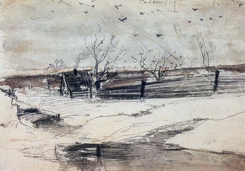 Savvinskaya settlement. 1880-1890-e. Alexey Kondratievich Savrasov