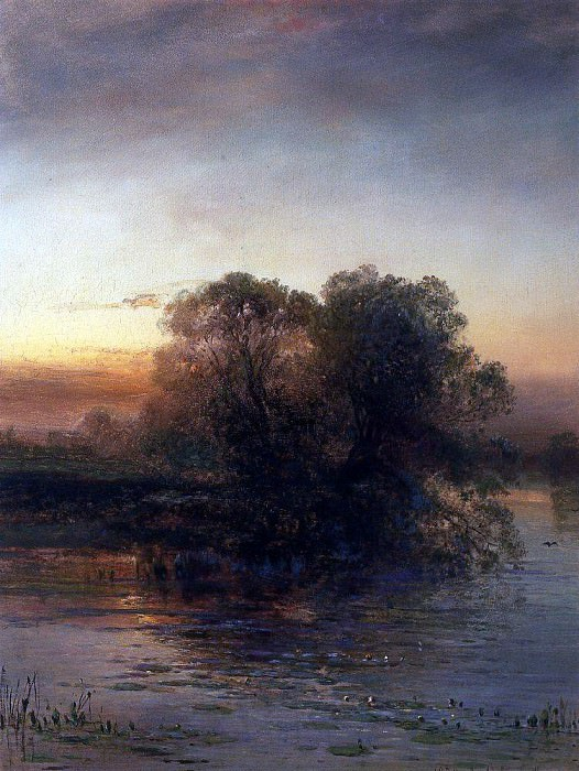 Pond at dusk. 1879. Alexey Kondratievich Savrasov