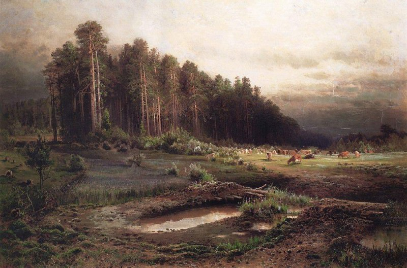 Elk Island in Sokolniki 2. 1869. Alexey Kondratievich Savrasov