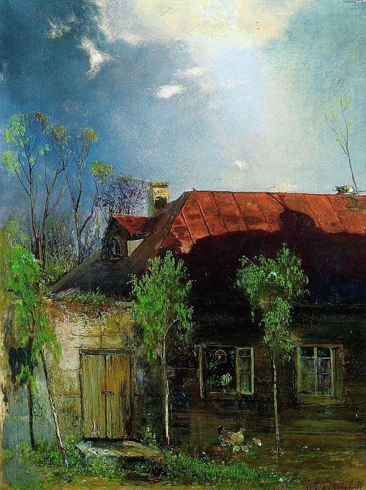 House in the province. Spring. 1878. Alexey Kondratievich Savrasov