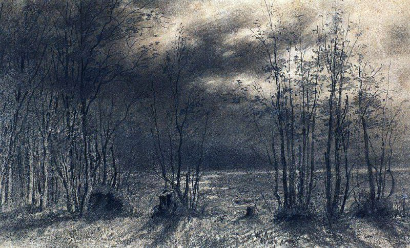 Autumn night. 1872. Alexey Kondratievich Savrasov