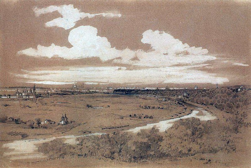 view of Moscow from Sparrow Hills. 1850. Alexey Kondratievich Savrasov
