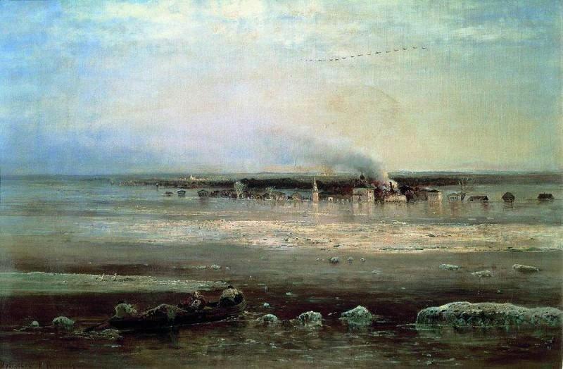 Spill Volga near Yaroslavl. 1871. Alexey Kondratievich Savrasov