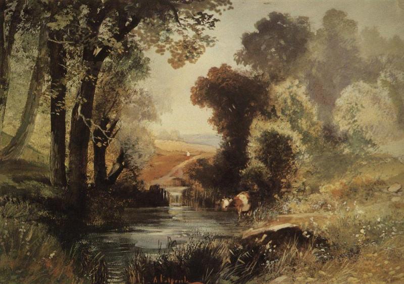 Summer landscape. 1860. Alexey Kondratievich Savrasov