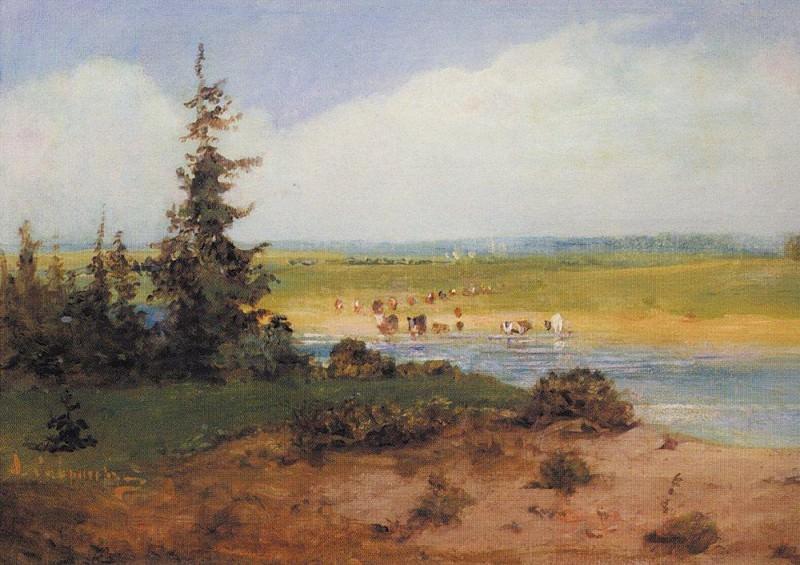 Summer landscape. 1850. Alexey Kondratievich Savrasov