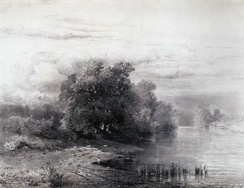 Trees by the River. 1861. Alexey Kondratievich Savrasov