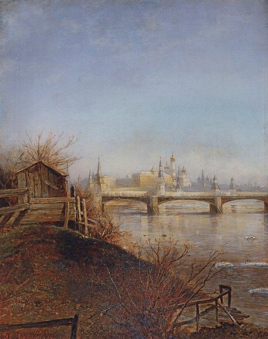View on the Moscow Kremlin. Spring. 1873. Alexey Kondratievich Savrasov