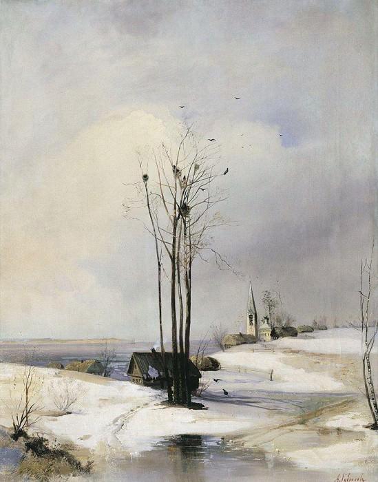 Early spring. Thaw. 1880. Alexey Kondratievich Savrasov