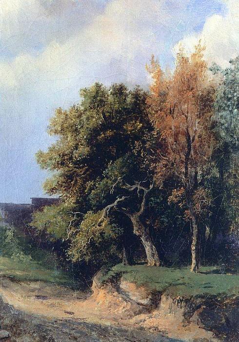 Landscape with a road. 1855. Alexey Kondratievich Savrasov