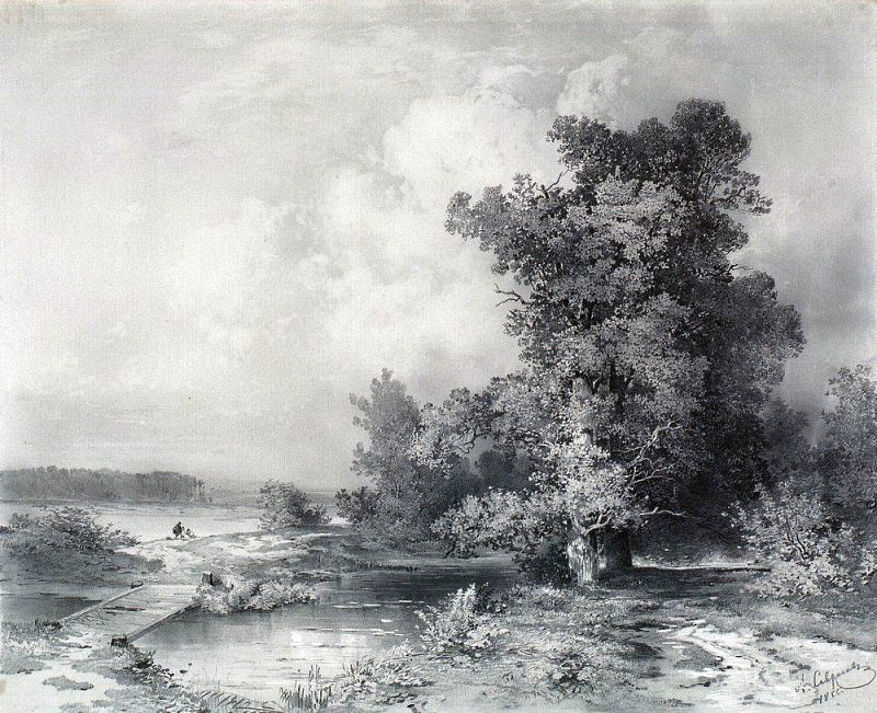 Type Kuntsevo in the village near Moscow. 1855. Alexey Kondratievich Savrasov