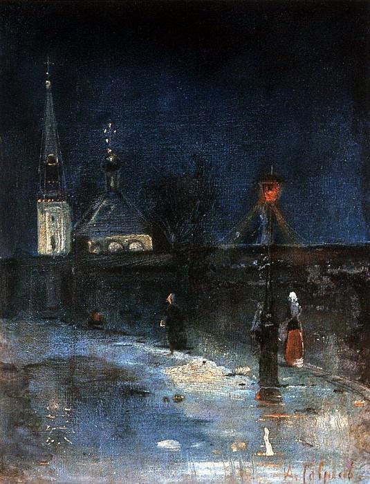К заутрене. Морозная ночь. 1880-1890-е. Алексей Кондратьевич Саврасов