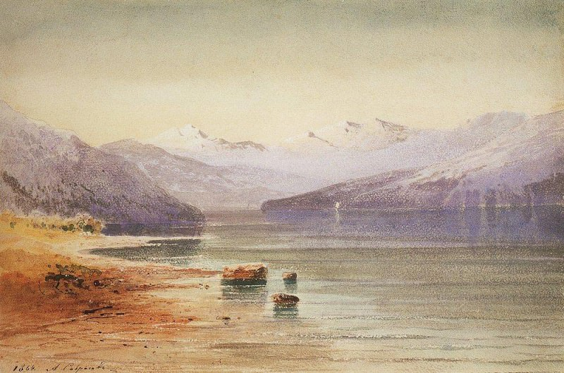 Mountain Lake. Switzerland. 1864. Alexey Kondratievich Savrasov