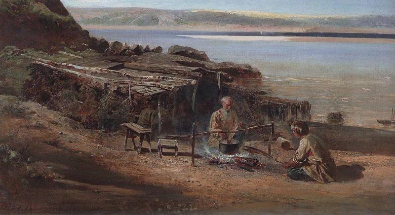 Fishermen on the Volga. 1872. Alexey Kondratievich Savrasov