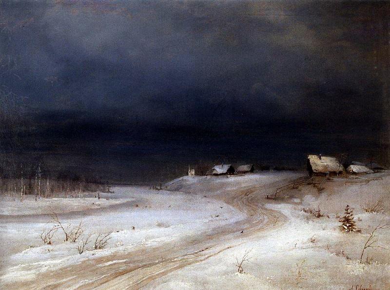 Зимний пейзаж. 1880-1890-е. Алексей Кондратьевич Саврасов