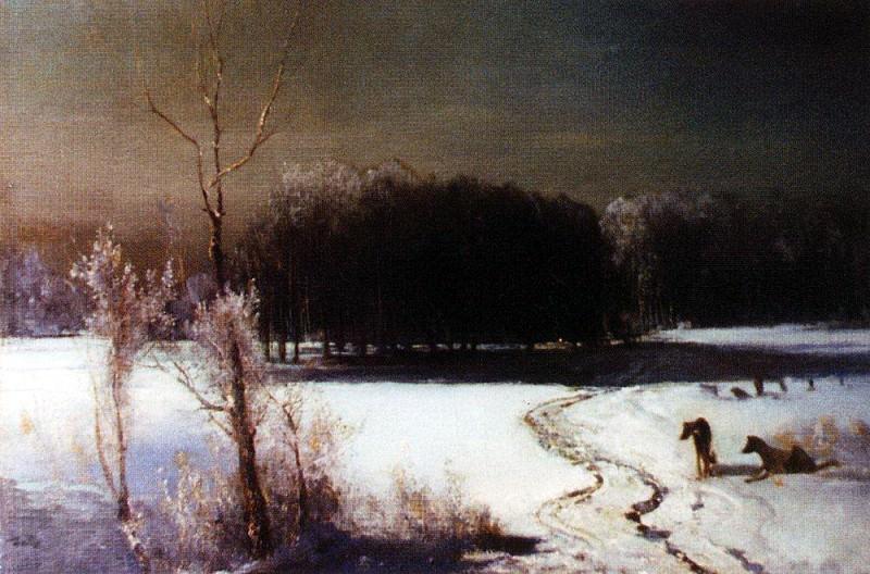 Landscape with wolves. 1880. Alexey Kondratievich Savrasov