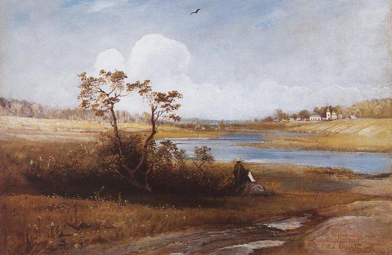 Surrounding villages Michael Pskov province. 1880. Alexey Kondratievich Savrasov