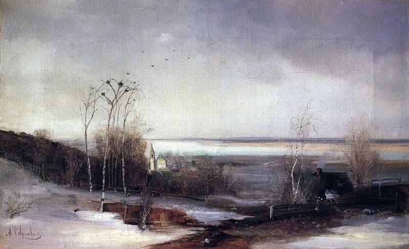 Ранняя весна. Дали. 1870-е. Алексей Кондратьевич Саврасов