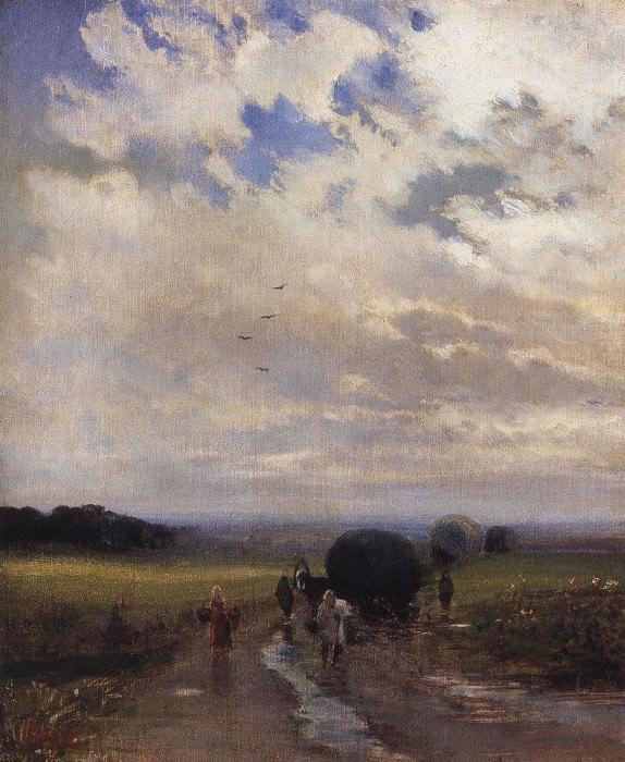 After a rain. 1880. Alexey Kondratievich Savrasov