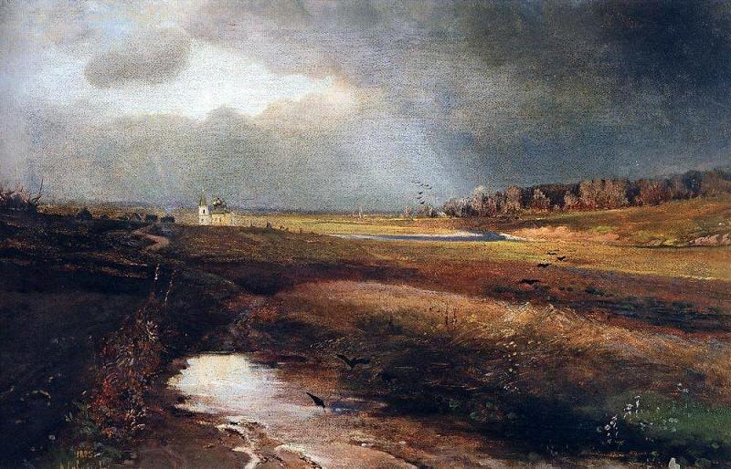 Landscape with a church. 1885. Alexey Kondratievich Savrasov