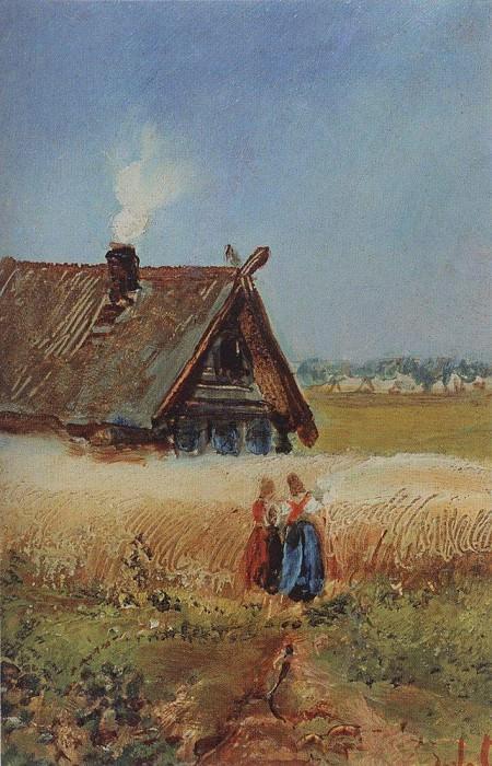 Кутузовская изба в Филях. 1860-е. Алексей Кондратьевич Саврасов