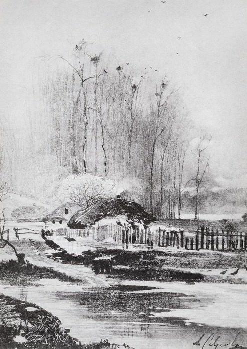Strong melts. 1894. Alexey Kondratievich Savrasov