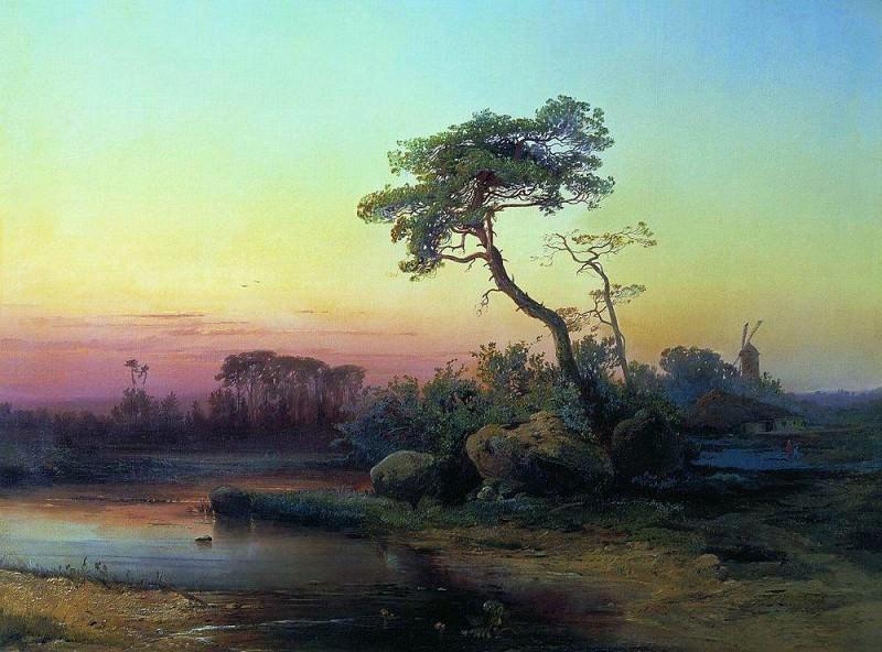 Landscape with pine. 1854. Alexey Kondratievich Savrasov