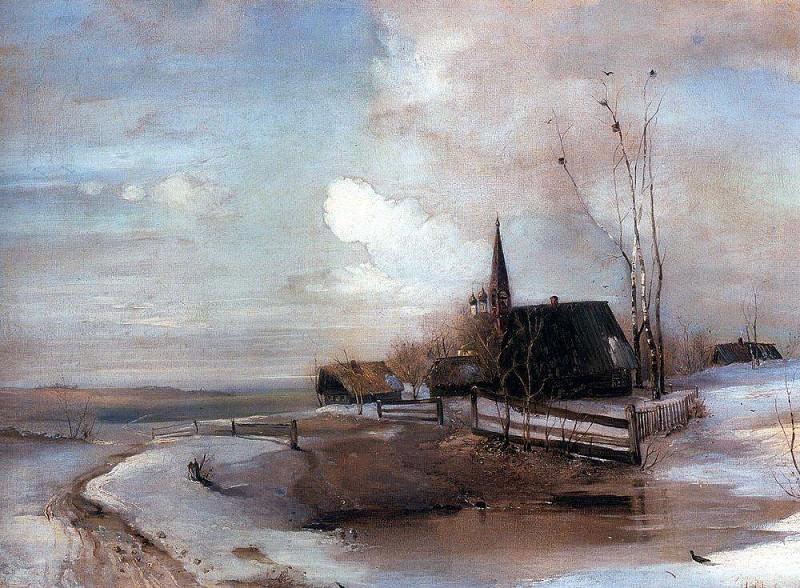 Ранняя весна 2. 1880-е. Алексей Кондратьевич Саврасов
