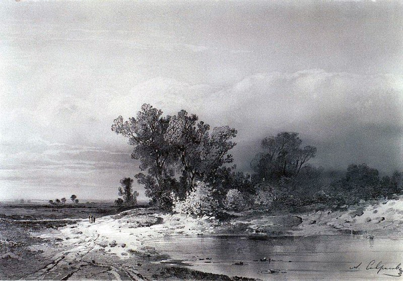 Clearance. 1850. Alexey Kondratievich Savrasov