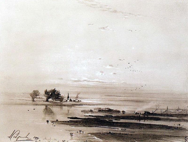 Early spring. Flood. 1893. Alexey Kondratievich Savrasov