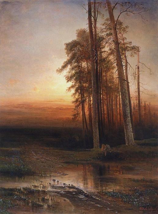 Evening. 1877. Alexey Kondratievich Savrasov