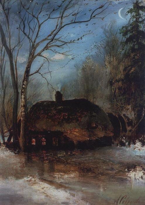 Spring landscape with a hut. 1890. Alexey Kondratievich Savrasov