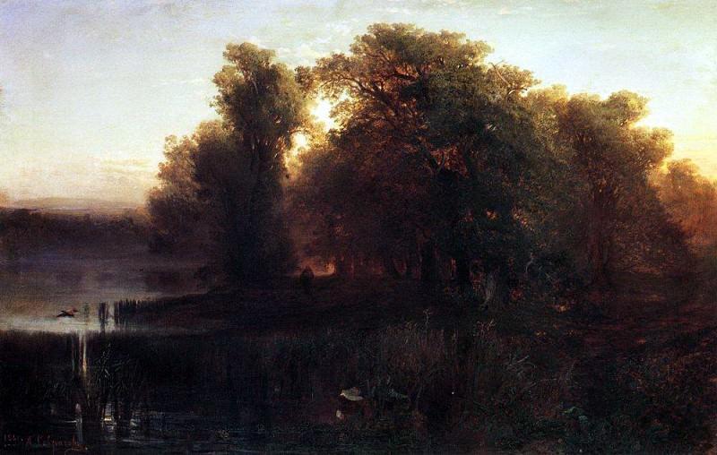 Evening Landscape. 1861. Alexey Kondratievich Savrasov