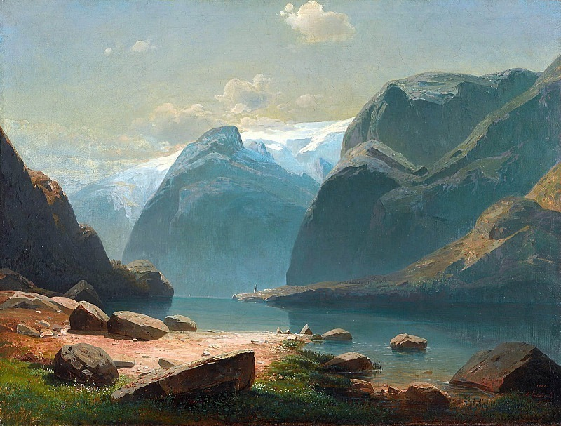 Lake in the mountains of Switzerland. Alexey Kondratievich Savrasov