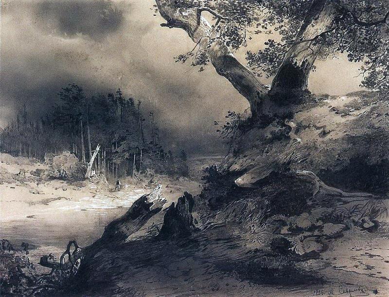 Thunderstorm. 1856. Alexey Kondratievich Savrasov