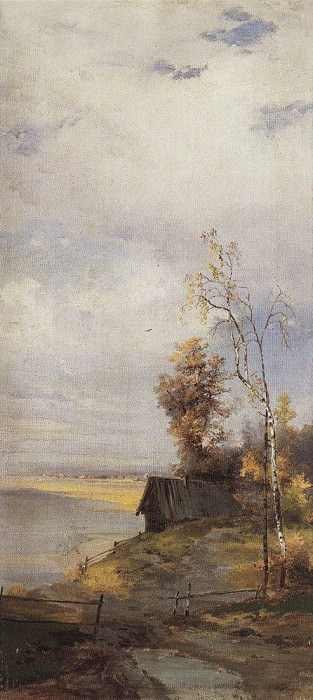 Landscape with house. Alexey Kondratievich Savrasov