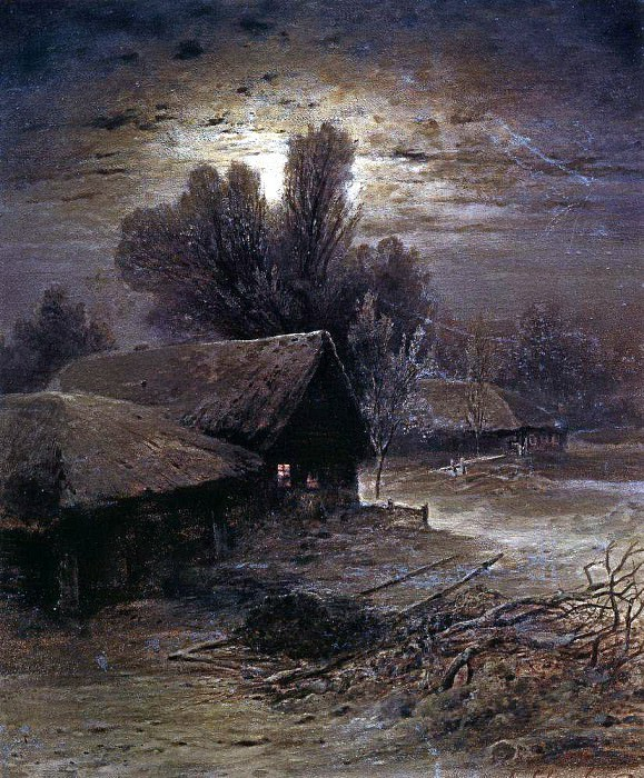 Moonlit Night in the Country (Winter Night). 1869. Alexey Kondratievich Savrasov